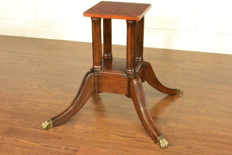 Large Mahogany Regency-Style Banquet Dining Table by Leighton Hall For Sale 2