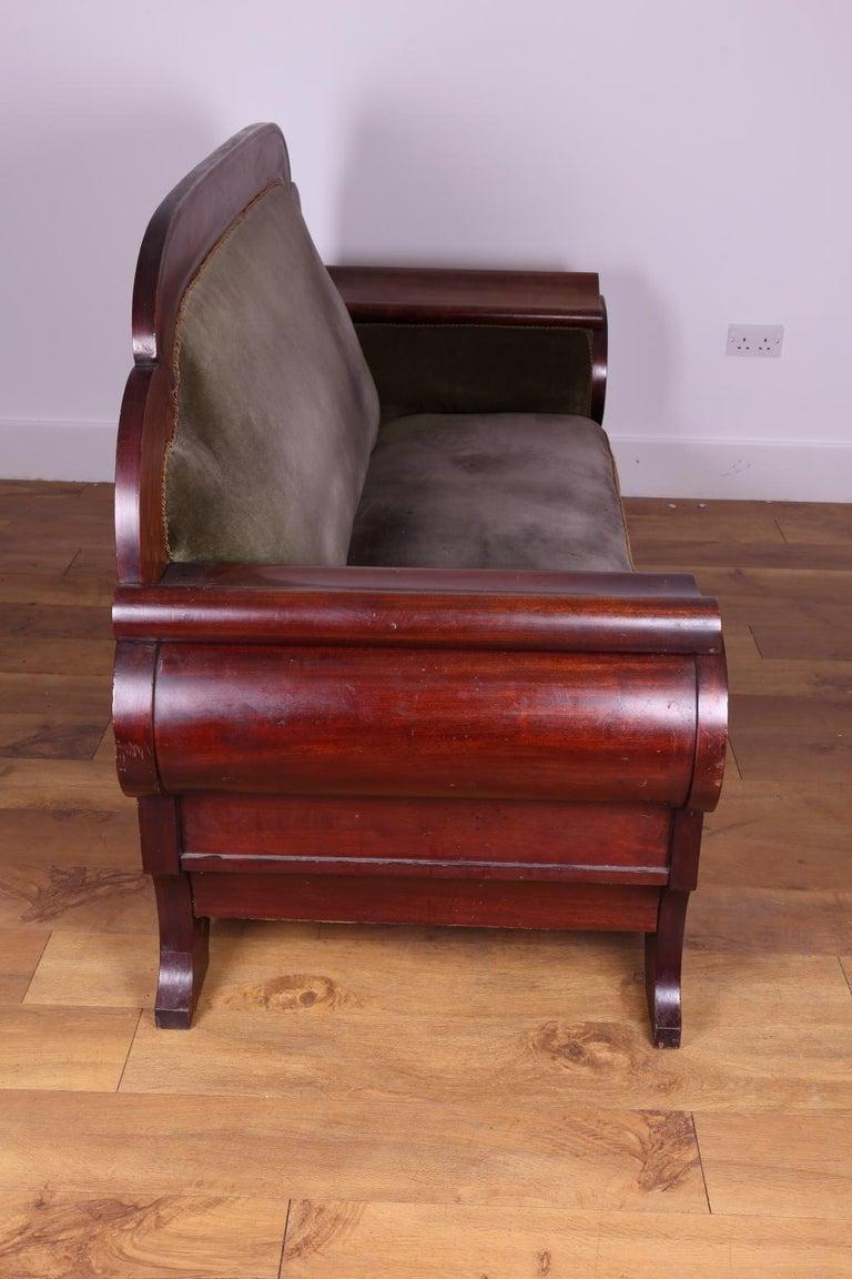Woodwork Large Mahogany Settee 'Swedish', circa 1830 For Sale