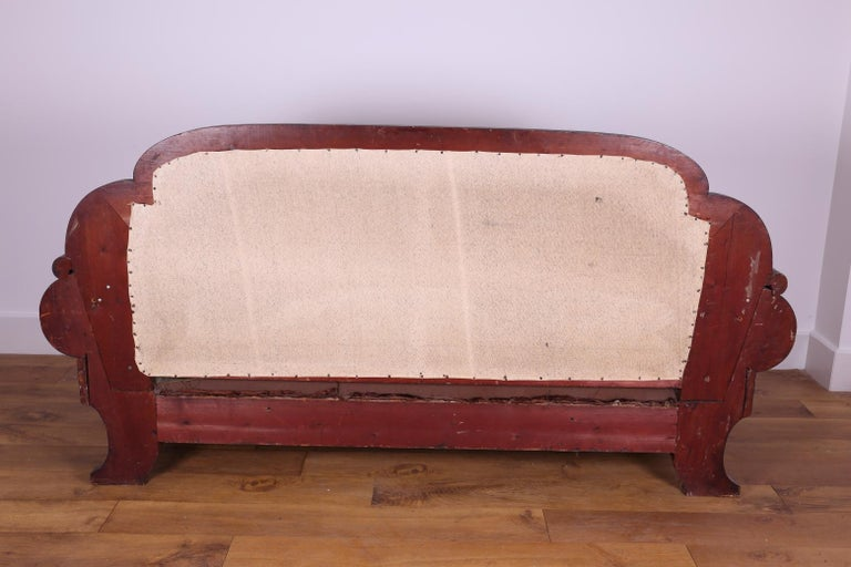 Large Mahogany Settee 'Swedish', circa 1830 In Good Condition For Sale In Stratford upon Avon, GB