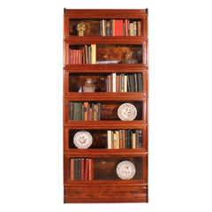 Large Mahogany Stacking Bookcase 6 Elements