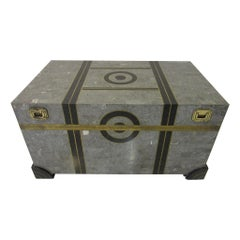 Coffee Table Chest in Tessellated Marble by Maitland Smith