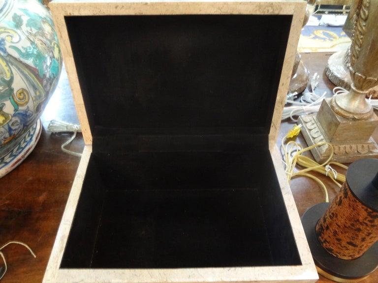 Large Maitland Smith Tessellated Stone Box 1