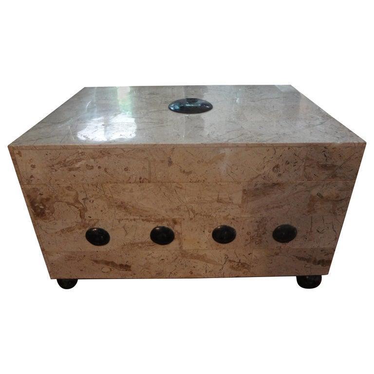 Large Maitland Smith Tessellated Stone Box 2