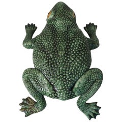 Large Majolica Palissy Toad Figure