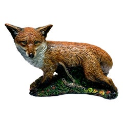 Large Majolica Style Model of a Fox