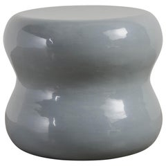 Large Mallet Drumstool, Grey Lacquer by Robert Kuo, Limited