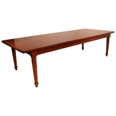 Large Manor Table from 19th Century in Solid Mahogany, England