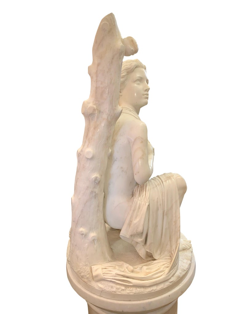 Large Marble Figure by Romanelli, 'The Son of Willaim Tell' For Sale 5