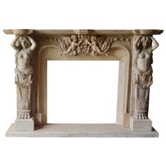 Large Marble Fireplace Mantle
