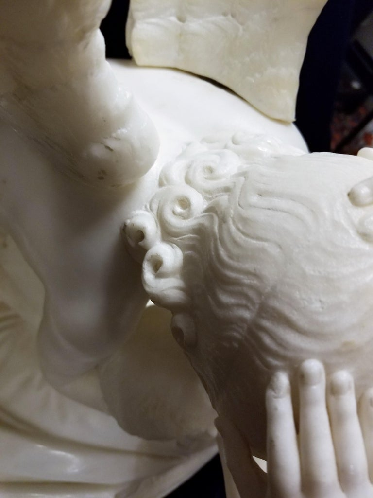 Late 19th Century Large Marble Grouping of
