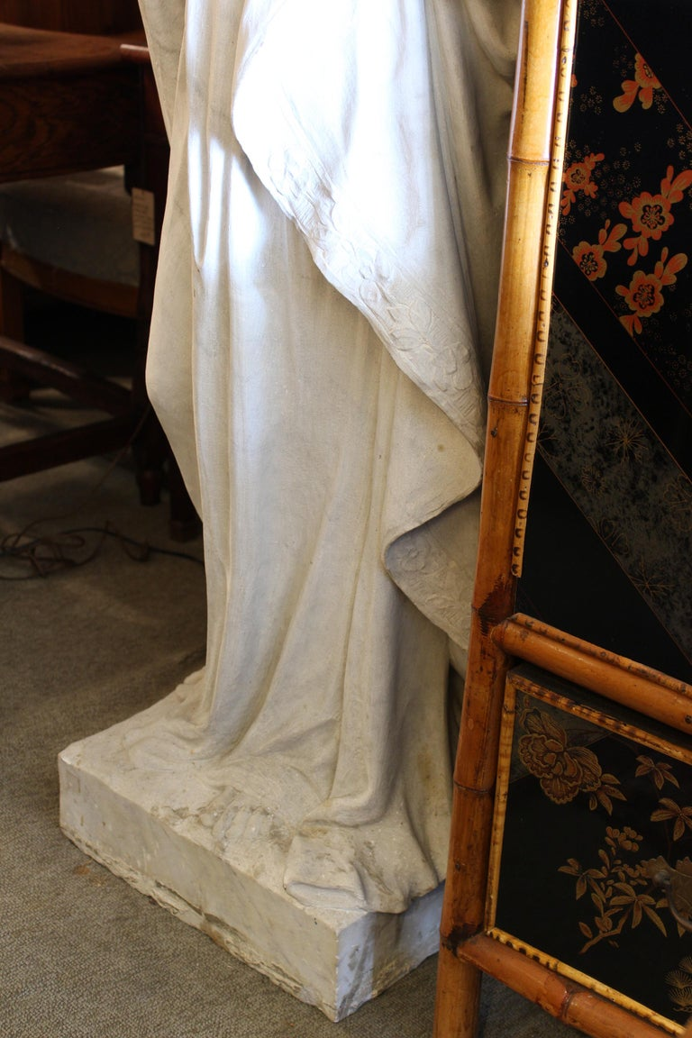 Unknown Large Marble Statue of the Virgin Mary For Sale
