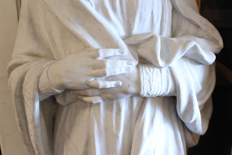 Large Marble Statue Of The Virgin Mary For Sale At 1stdibs