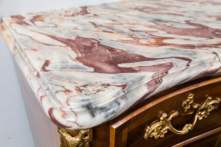 European Large Marble Top Continental Commode For Sale