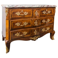 Large Marble Top Continental Commode
