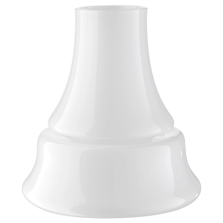 For Sale: White (2407) Large Marco Vase in Murano Glass by Sergio Asti