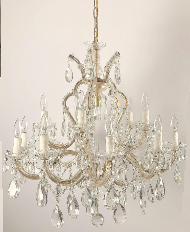 Italian Large Maria Theresa Sixteen-Light Chandelier (35