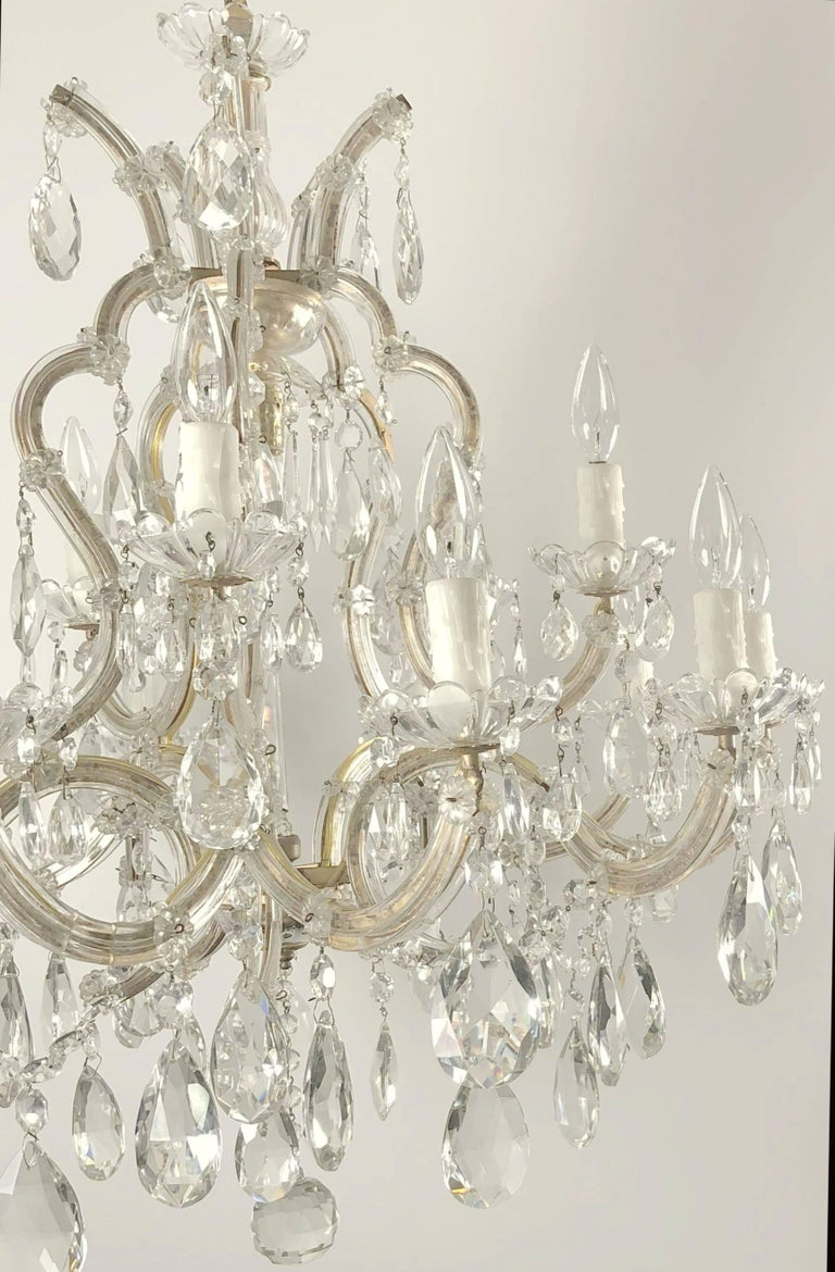 Metal Large Maria Theresa Sixteen-Light Chandelier (35