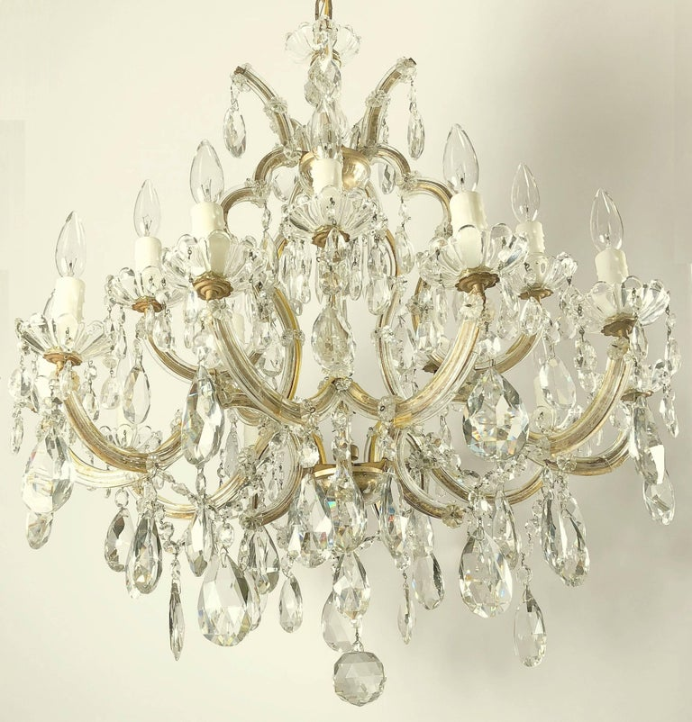 Large Maria Theresa Sixteen-Light Chandelier (35