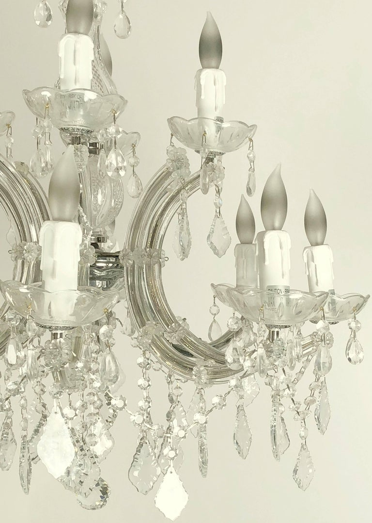 """Large Maria Theresa Twelve-Light Chandelier (24"""" Diameter) In Excellent Condition For Sale In Austin, TX"""