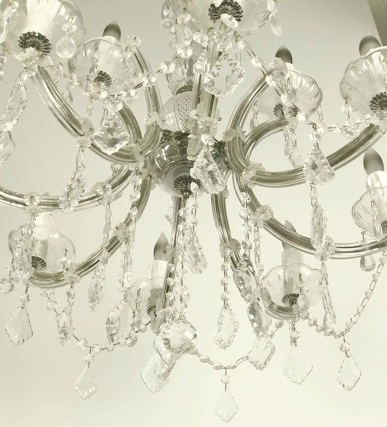 "Large Maria Theresa Twelve-Light Chandelier (24"" Diameter) For Sale 1"