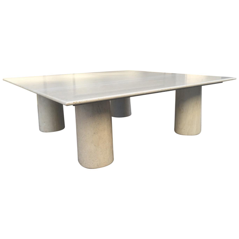 Large Mario Bellini Italian Marble Coffee Table