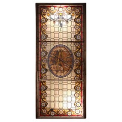 Large Masonic Stained Glass Signed from Champigneulle
