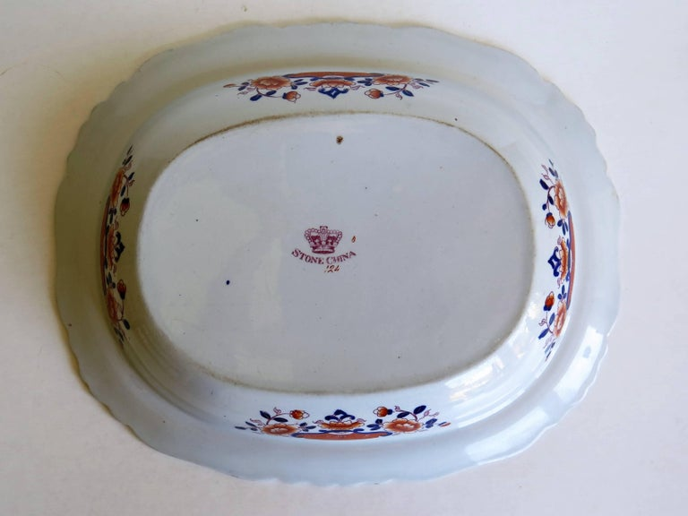 Large Mason's Ashworth's Ironstone Dish Chinoiserie Pattern 124, circa 1865 For Sale 9