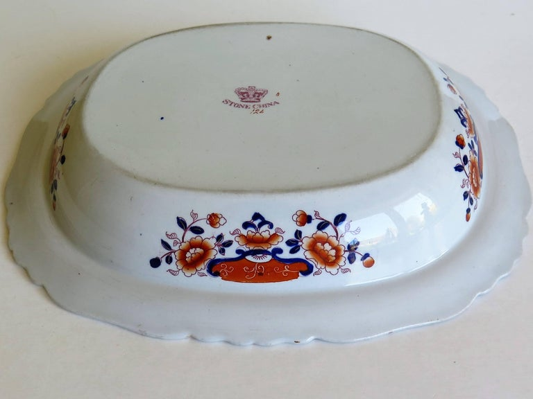 Large Mason's Ashworth's Ironstone Dish Chinoiserie Pattern 124, circa 1865 For Sale 10