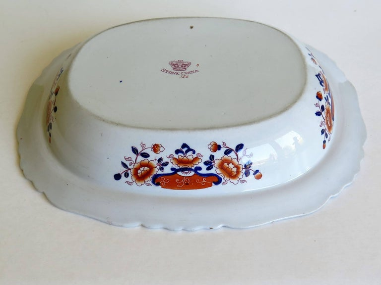 Large Mason's Ashworth's Ironstone Dish Chinoiserie Pattern 124, circa 1865 For Sale 11