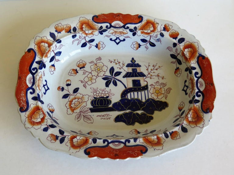 This is a very attractive Mason's Ironstone large dish made during the mid-19th century, when Mason's was owned by Ashworth Brothers, circa 1865.