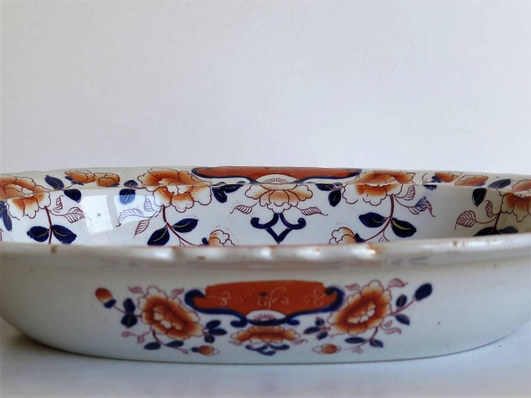 Large Mason's Ashworth's Ironstone Dish Chinoiserie Pattern 124, circa 1865 For Sale 2
