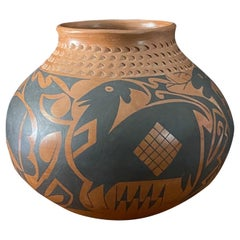 Large Mata Ortiz Polychrome Pottery Vessel by Daniel Gonzales
