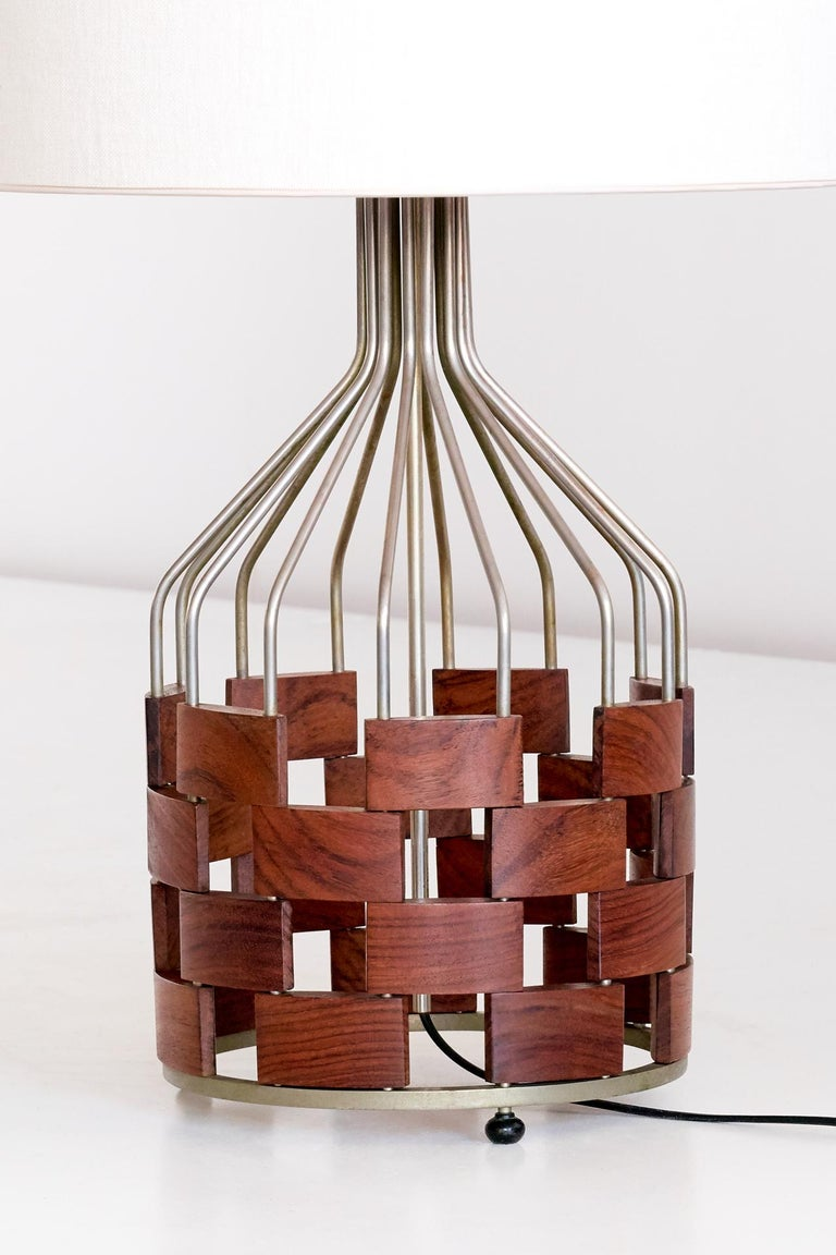 Plated Large Maurizio Tempestini Table Lamp for Casey Fantin, Florence, 1961 For Sale