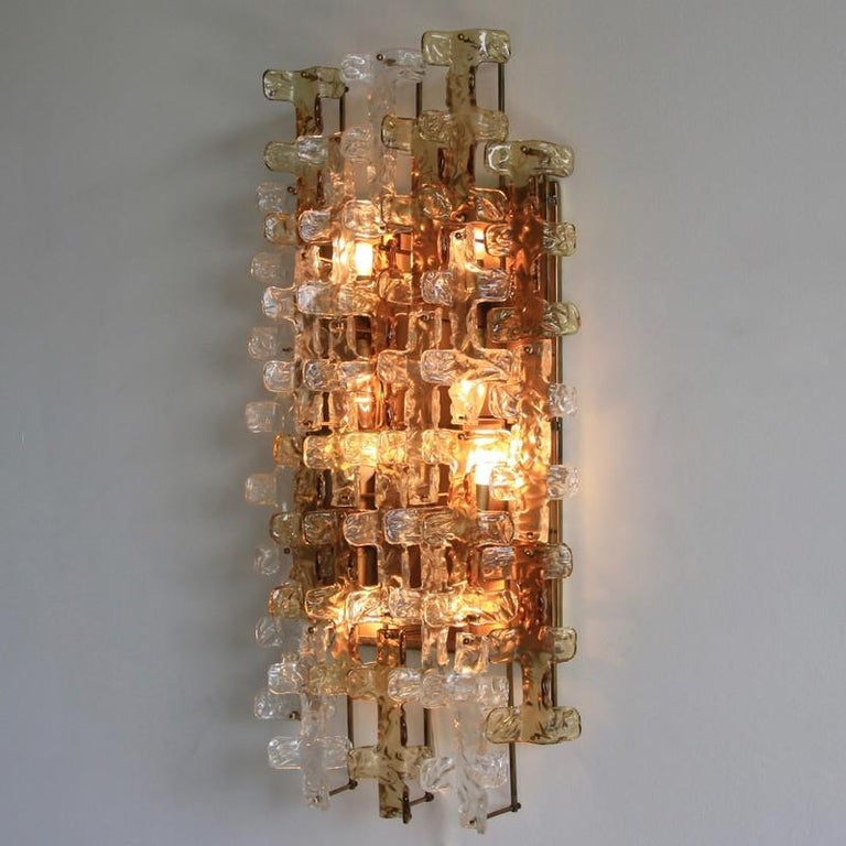 Large wall sconce by Mazzega. Italy, Mazzega, 1970s.