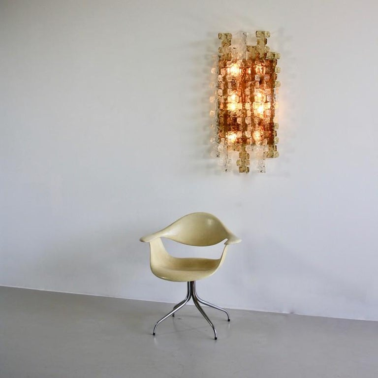 Late 20th Century Large Mazzega Wall Sconce, 1970s For Sale