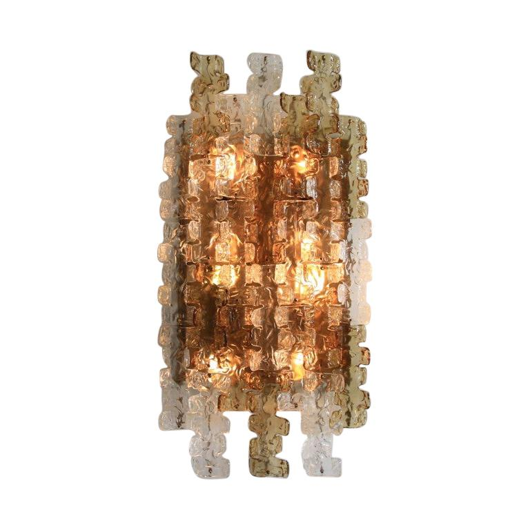 Large Mazzega Wall Sconce, 1970s For Sale