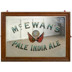 Large Mc Ewan's Pale India Ale Advertising Mirror, Pub Mirror for Mc Ewans's