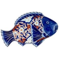 Large Meiji Imari Fish Plate, VI