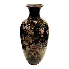 Large Meiji Period Japanese Cloisonné Vase