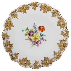 Large Meissen Hand Painted Porcelain Plate
