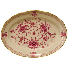 Large Meissen Purple Indian Serving Platter
