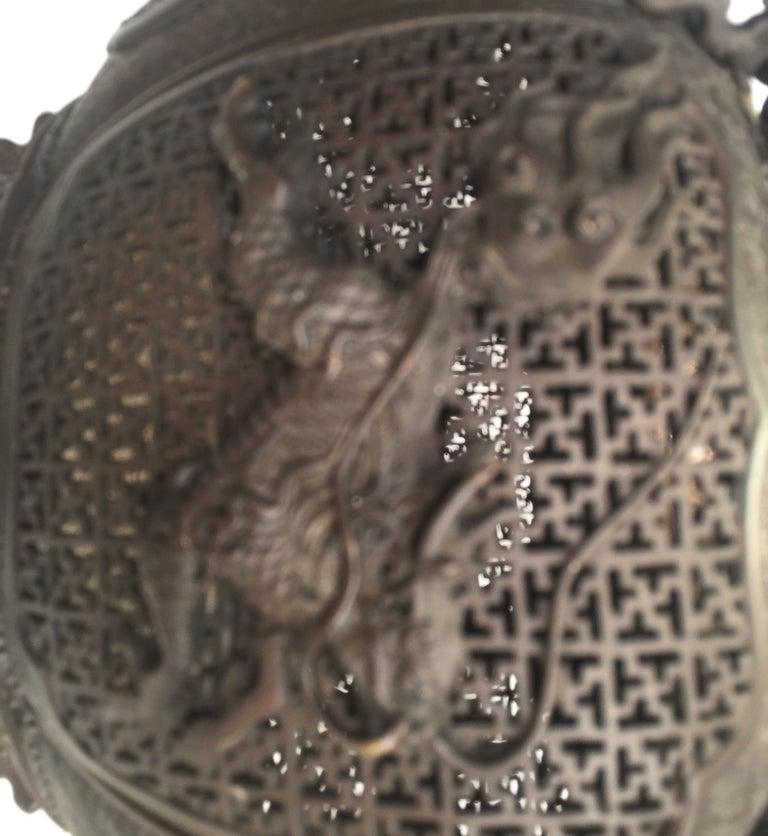 Large Meji Period Japanese Bronze Cencer, 1880s For Sale 8