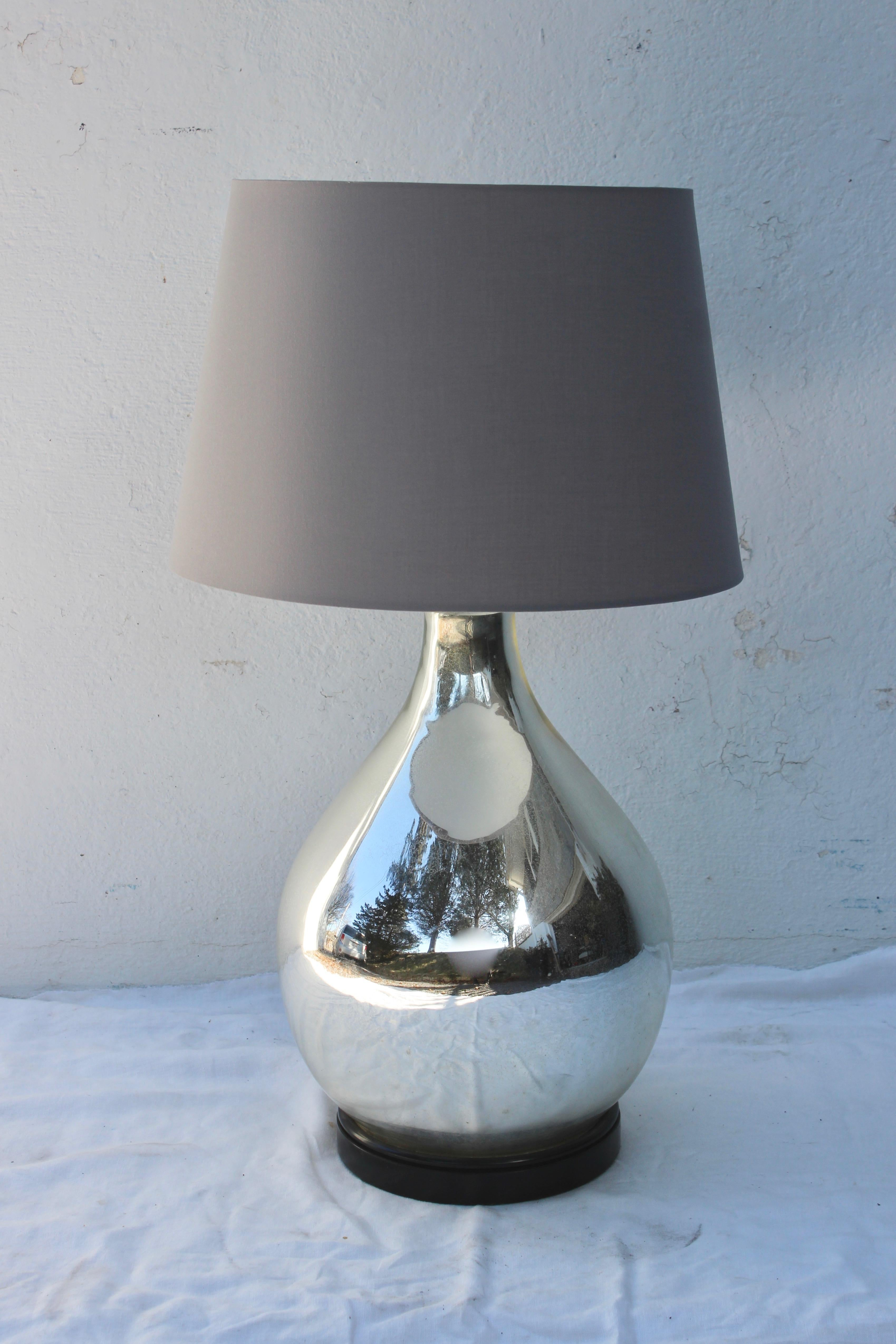 Image of: Large Mercury Glass Table Lamp For Sale At 1stdibs