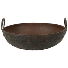Large Metal Iron Urli Pot from Southern India