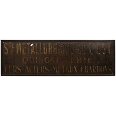 Large Metal Shop Sign from France, circa 1900
