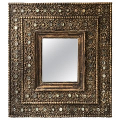 Large Mexican Wood Mirror