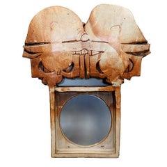 Large Michael Cohen Studio Pottery Mirror