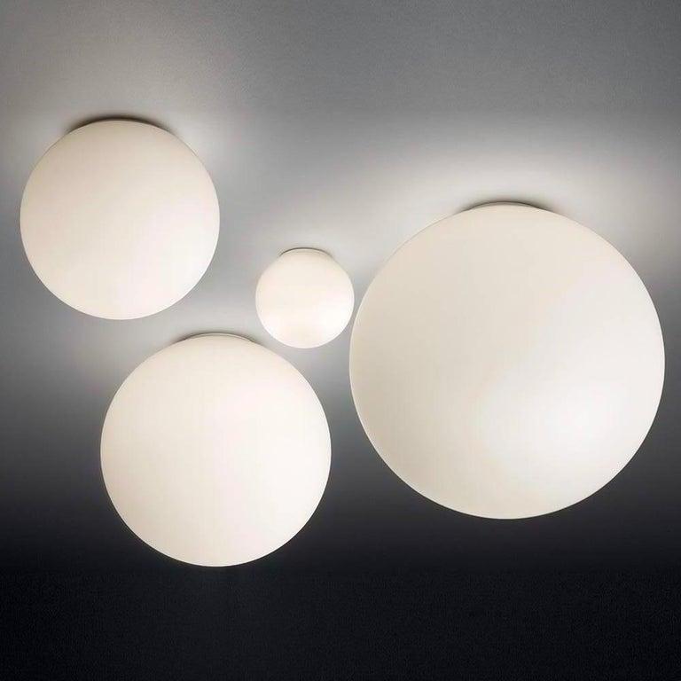 Mid-Century Modern Large Michele De Lucchi Dioscuri 42 Outdoor Ceiling Light For Sale