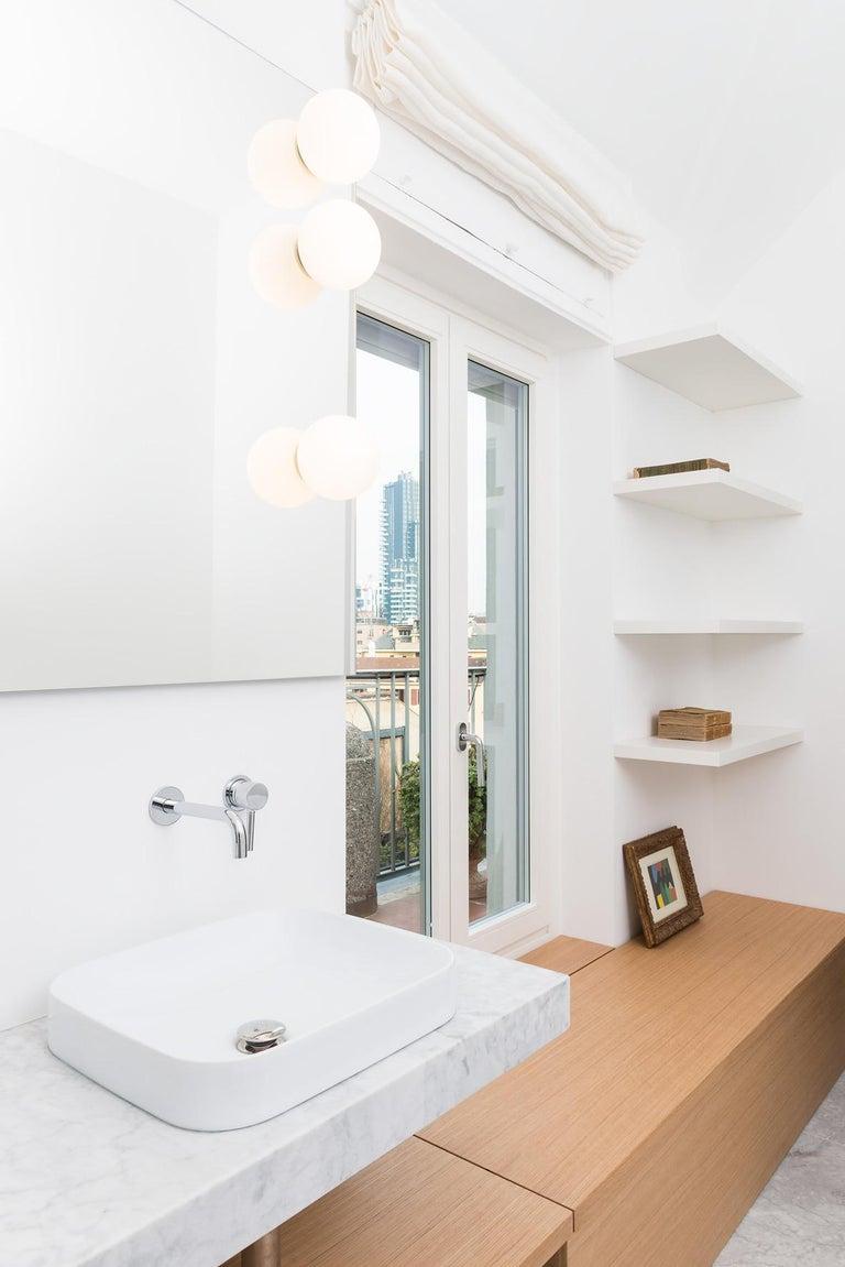 Contemporary Large Michele De Lucchi Dioscuri 42 Outdoor Ceiling Light For Sale
