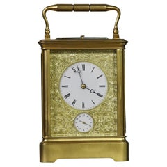 Large Mid-19th Century Carriage Clock by Drocourt